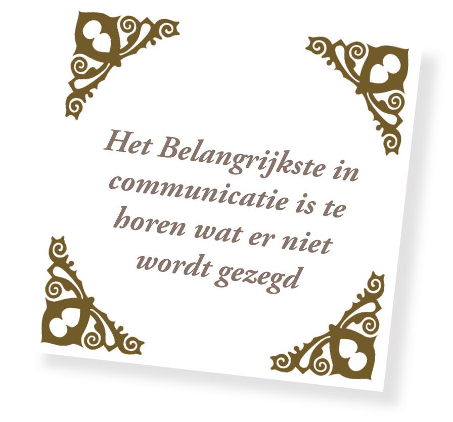 Communiceren non verbaal Verbaal en
